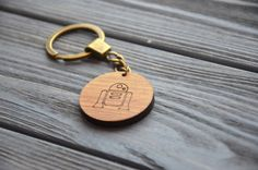 Items similar to Star Wars Favor Gift Droid Wooden Key Chain Custom Keychain Star Wars decor Key Ring Gift for Brother Boyfriend Husband Geek on Etsy Wooden Keychain, Diy Keychain, R2 D2, Star Wars Gifts, Cnc Router, Key Chain, Laser Engraving, Robot, Jewellery