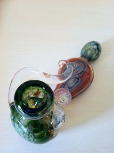 Swoosh Glass Pipe with Marble #glasspipe