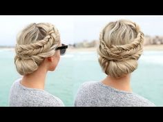 How to: Topsy Tail Fishtail Braid with a French Braid - YouTube