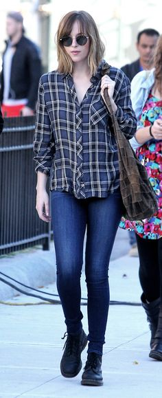 Dakota Johnson out and about in NY - 4 Nov 2015