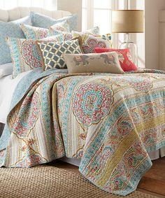 Love this Blue Tangier Quilt Set by Levtex Home on #zulily! #zulilyfinds