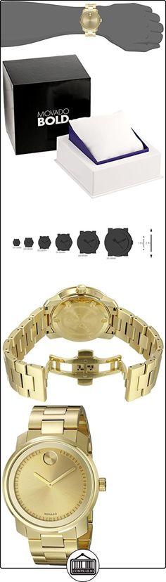 Movado Bold 3600258 - Reloj , correa de acero inoxidable color dorado  ✿ Relojes para hombre - (Lujo) ✿