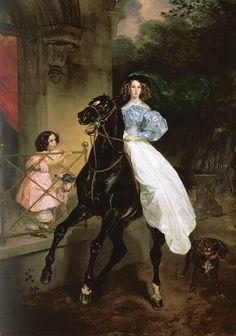 Brullov, Horsewoman, 1832