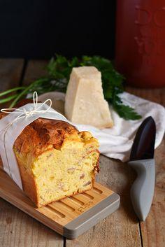 Plumcake with Speck and Pecorino cheese