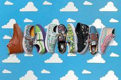 Vans, Toy Story, Woody, Buzz L'Eclair, personnage, Disney, Pixar, film, animation, sneakers, SK8-Hi, Authentic, Old Skool, skateboard, date, sortie, fête, Noël