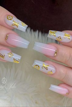48 Alluring Acrylic Coffin Nails To Make Your Fall Nails Beautiful ! – – Acrylic coffin nails design for Fall and Autumn, Long coffin nails ideas, glitter coffin nails , Coffin nails with rhinestone, Cute Acrylic Nail Designs, Gold Nail Designs, Nails Design, Summer Acrylic Nails, Best Acrylic Nails, Summer Nails, Perfect Nails, Gorgeous Nails, Fire Nails