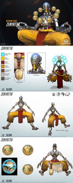 Overwatch characters reference guide: Zenyatta.