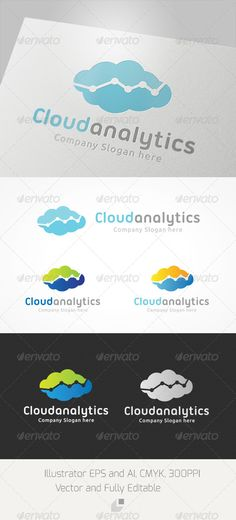 Cloud Analytic Logo  EPS Template • Download ➝ https://graphicriver.net/item/cloud-analytic-logo/4063989?ref=pxcr