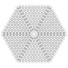 Hexagonal Flat Peyote Worked In Rounds - Graph paper for your own designs ~ Seed Bead Tutorials