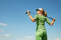 What do you wear when you golf? (Apparently, I need to get this pose down.)
