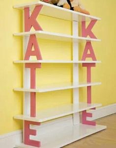 Shelves.  I would do it with the word BOOKS.