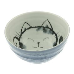 """Cat Bowl 6.25"""" Blue, $12.50, now featured on Fab."""