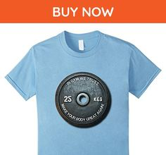 Kids Funny Gym Fitness Workout Funny Vintage Weight T-Shirt 6 Baby Blue - Workout shirts (*Amazon Partner-Link)