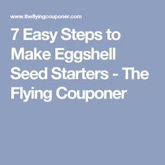 7 Easy Steps to Make Eggshell Seed Starters - The Flying Couponer