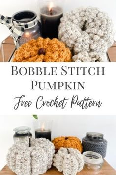 A free and easy crochet pumpkin pattern in size small, medium and large, using the bobble stitch for a beautiful realistic pumpkin texture! Made in one flat rectangle with step by step assembly instructions it's beginner friendly and works up quickly. Add a mini pumpkin to your fall decor, or a big pumpkin for halloween! Crochet Fall Decor, Crochet Home, Crochet Gifts, Easy Crochet, Autumn Crochet, Crochet Ideas, Crochet Projects, Free Crochet, Modern Crochet Patterns
