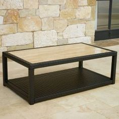 Stone Top Patio Coffee Tables