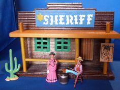 """Dodge City Sheriff Office aus """"Rauchende Colts"""" (""""Gunsmoke"""" mit Matt Dillon und Miss Kitty"""