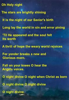 """""""Oh Holy Night"""" recorded by  Celine Dion"""