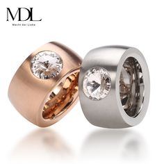 R0018, US$ 22./piece. Size : 6.5, 8, 9, 10.  Hot  Brand Ring Stainless Steel Rose Gold/18K Gold/ Silver SWA Element Fine Zircon Jewelry Gift For Women Fashion Gem Ring
