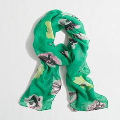 Love this print - Factory lightweight long printed scarf
