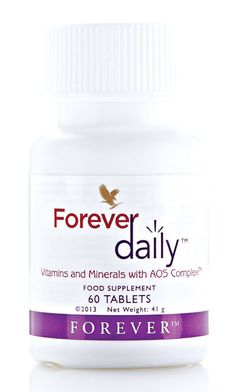 Bien-être au quotidien  Forever Daily fournit un apport quotidien de nutriments essentiels à l'organisme pour son bon fonctionnement.  Nous ne consommons pas suffisamment de fruits et légumes riches en vitamines et minéraux.  #forever #foreverliving #nutriment #vitamine