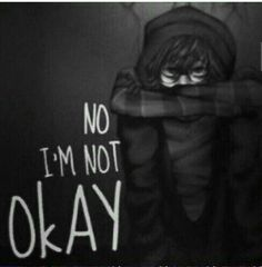 No I'm not okay, text, sad, Ticci Toby; Creepypasta