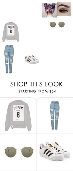 """""""Untitled #484"""" by melissaperez427 on Polyvore featuring Studio Concrete, Topshop, Ray-Ban and adidas Originals"""