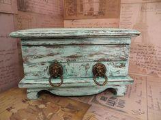 Vintage Jewelry Box Wooden Box Vintage Box Brass by oZdOinGItagaiN, $30.00