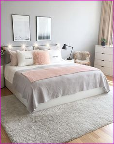 A clutter-free and clean life is able to really feel unattainable when your bedroom lacks the right foundation. You want it to feel like a sanctuary, ... Simple Bedroom Decor, Cute Room Decor, Teen Room Decor, Room Decor Bedroom, Master Bedroom, Cheap Bedroom Ideas, Simple Bedrooms, Master Suite, Diy Bedroom