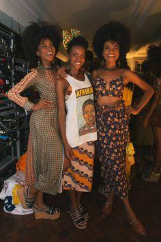 Oversized cu up graphic tee with slim geometric maxi! Black Girl Fashion, Look Fashion, Fashion Tips, Black Is Beautiful, Black Girl Magic, Black Girls, Looks Hip Hop, Afro Punk Fashion, Hijab Fashion