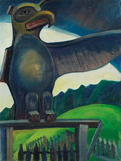 Vancouver Art Gallery - Emily Carr - Thunder Bird, Campbell River, B. Vancouver Art Gallery, Art Gallery Of Ontario, Canadian Painters, Canadian Artists, Emily Carr Paintings, Art Nouveau, Thunder Bird, Post Impressionism, Impressionist Paintings