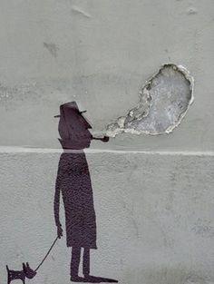 Sandrine Estrade Boulet_street art  (quando si fà del brutto qualcosa di bello)