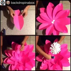 OH HEY TEMPLATE 2  #paperflowers #paperflower #madewithmichaels #backdropinabox
