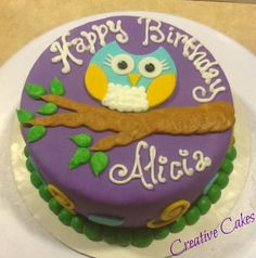 Creative Cakes - an owl birthday cake for my daughter's birthday:)