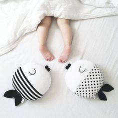 1pc 50cm Black White Fish Pillow/cushion Stuffed Toy Wave Point Cartoon Fish Pillow Baby Kids Boy Girl's Dolls Christmas Gift