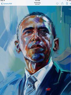 ESBER-DigiPortraiture #017  * US President  BARACK H. OBAMA    Visual Artist: Ismael F. Esber