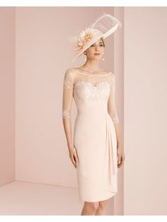 f6c9780e4ed Couture Club 2G178 Long Sleeve Dress With Chiffon Skirt Rosa Mother Bride