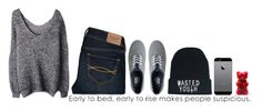 """Gummy bears. Nuff said"" by kjead ❤ liked on Polyvore featuring Abercrombie & Fitch, Vans and Samsung"