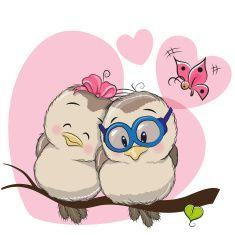 Two Birds vector art illustration