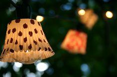 Inspiration: cupcake liner lights.