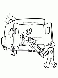 ambulance coloring pages preschool cars trucks and