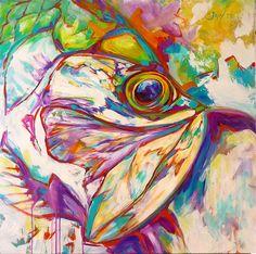 Fish Art   Marine Art   Paintings   Prints   Savlen   http://www.savlenstudios.com/new-tarpon-fish-expressionist-limited-original-art/