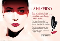 We asked our Facebook fans to post their most glamorous lips on the Shiseido UK Facebook wall for their chance to win our new Lacquer Rouge. A huge thank you to everyone who participated!        Are you one of the lucky winners? Please contact marketing@shiseido.co.uk with your address details and you shall soon receive your prize.         If you do not wish to have your picture posted on Pinterest please let us know and we will remove it.