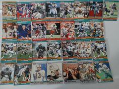 1990 Pro Set Series 1 & 2 Update Miami Dolphins Team Set of 29 Football Cards Dolphin Quotes, Football Cards, Baseball Cards, Miami Dolphins, Super Bowl, Diy, Soccer Cards, Bricolage, Handyman Projects