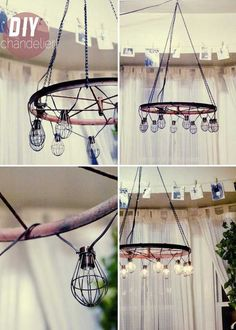 21 Awesomely Creative DIY Crafts Re-purposing Bike Rims 21 Awesomely Creative DIY Crafts Re-purposing Bike Rims homesthetics upcycling projects Gazebo Lighting, Outdoor Chandelier, Diy Chandelier, Wheel Chandelier, Hula Hoop Chandelier, Inexpensive Home Decor, Diy Home Decor, Deco Originale, Creation Deco