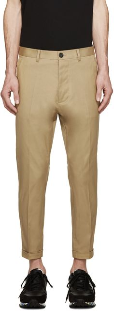 Dsquared2 Beige Twill Chinos