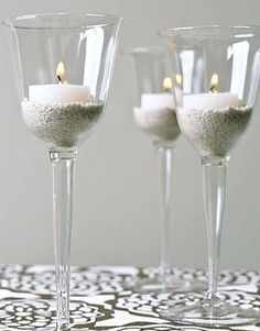 Such a simple but effective idea and we've all got odd wine glasses lying around!