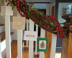 How to Display Your Christmas Cards #1 Down the Banister