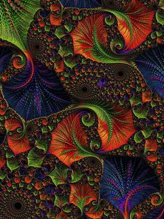 Fractal Embroidery by Amanda Moore