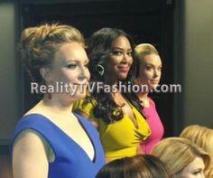 """Kenya Moore's Roland Mouret Draped Stretch-Crepe Dress on """"Celebrity Apprentice"""""""
